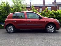 2004 Renault Clio 1.2 5 door 12 months MOT excellent condition
