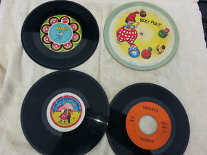 lot of 45 records rock and roll and kids