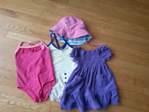 Girls 12 month Bathing suit lot