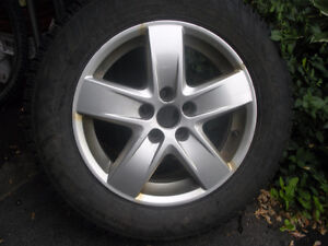 "VW 15"" Original Alloy Rims (with 195/65R15 Winters mounted)"
