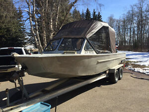 23 FT Aluminum Jet River Boat