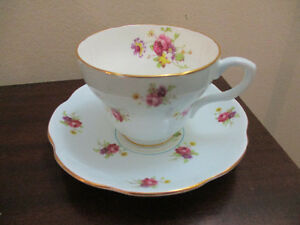 Foley Blue/White Tea Cup and Saucer Kitchener / Waterloo Kitchener Area image 1