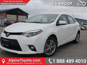 2014 Toyota Corolla LE  Low Kms - Sunroof - Heated Seats