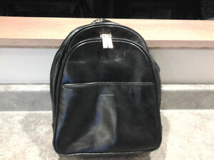 black leather backpack style