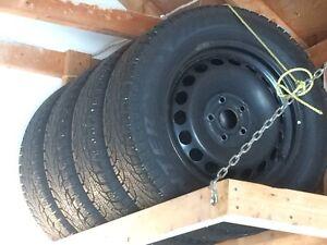Pirelli winter tires on Volkswagon rims London Ontario image 2