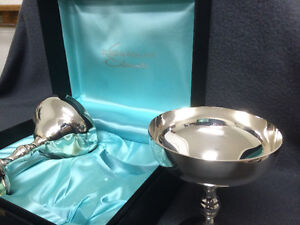Collectible Antique Burke & Wallace Silversmiths Wine Goblets London Ontario image 4