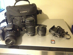 Canon T3i Rebel BUNDLE (3 Lenses included)!!!!