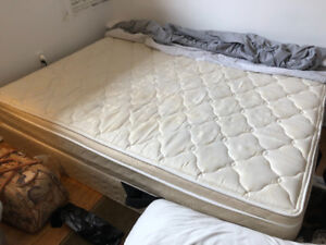 Double Sized Boxspring and Mattress