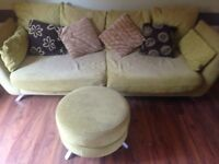 DFS 3 seat sofa with foot stool