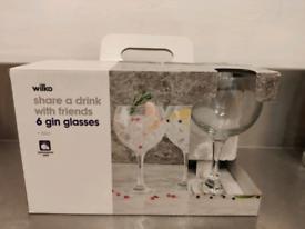 Set of 6 gin glasses