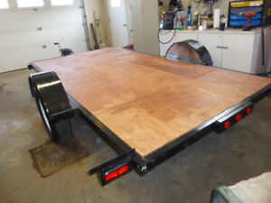 REDUCED!! Quality built 6' x 12' flat deck trailer.