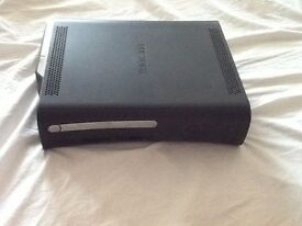 Xbox 360 black with controllers and games swap or sell