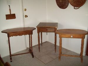 ANTIQUE TABLES WATERLOO COUNTY  / TWIST LEG LISTED PRICES