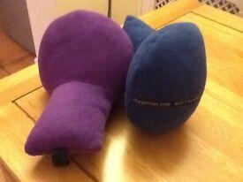 Two Jetrest travel pillows