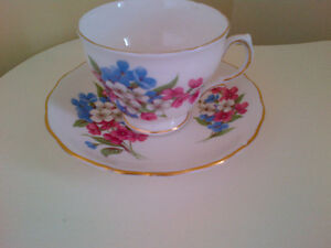Tea Cup & Saucer  - Bone China - Made in England