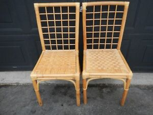 Set of rattan chairs