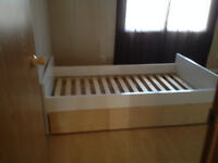Captains bed frame with drawers