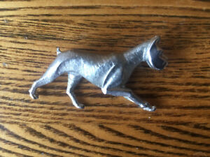 Adorable silver boxer pin brooch jewellery