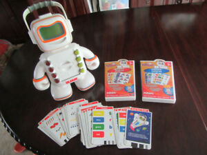 Alphie Learning Robot and cards