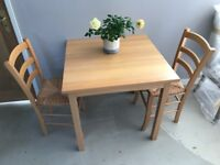 Dining table & 2 chairs for sale