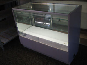 Glass Display Cabinet with lower storage drawers &interior light