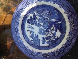 Vintage Churchill Blue Willow Dinnerware