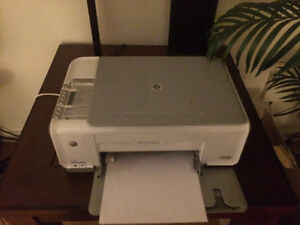 HP all-in-one printer w/ink & paper