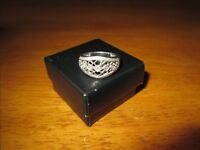 Sterling silver ring with diamond chips