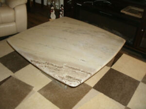 IMPORTED MARBLE LIVING ROOM COFFEE TABLE