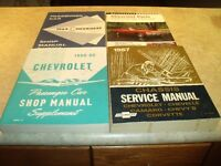 4 Antique Chevrolet Shop Manuals