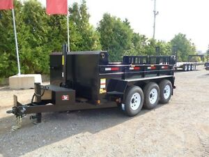 Miska 10 Ton Contractor Dump Trailer - Factory Dir