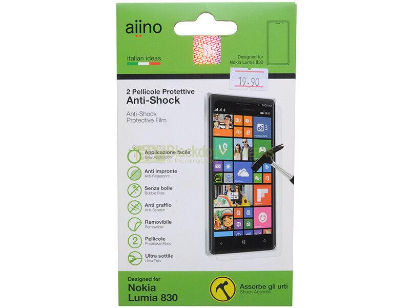Aiino N° 2 pellicole protettive anti shock per Nokia Lumia 830.