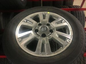 "20"" Toyota Tundra Platinum alloy wheels and tires"