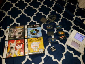Nintendo DS with charger and Pokemon