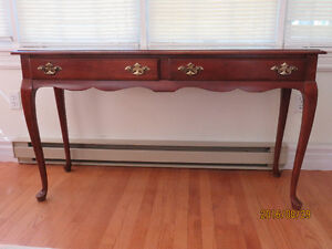 Solid cherry sofa/console table
