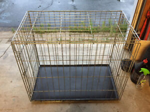 Large Wire Dog Crate with Tray