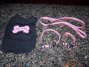Harley Davidson dog sweater, 2 (HD) collars and a (HD) leash