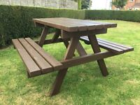 Picnic bench for sale limited time price.