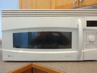 over stove GE Profile microwave convection oven