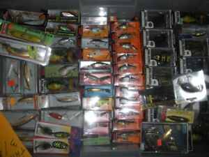 new fishing tackle for sale, lures, musky baits braided line