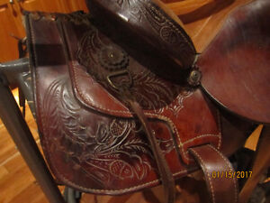 Billy Cook Leather Roping Saddle & Bridle with Bit- W@W!