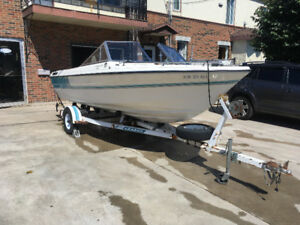 Sunray continental 17 pieds open deck mer cruiser 4.3 pied alpha