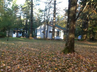 Beautiful lot with Lac Brome Access, 3 season cottage