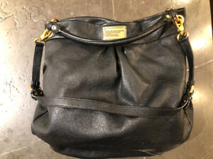 Marc Jacobs Dark Classic Q Hillier Brown Leather Hobo Bag