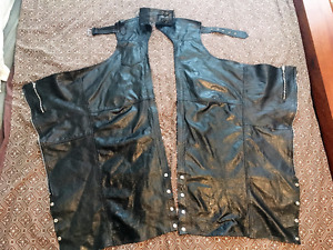 Leather Motorcycle Chaps - lined w key pocket