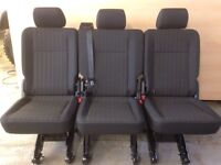 Vw transporter t6 t5 rear 1 + 1 + 1 quick release kombi seats