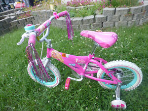 Barbie 14 Inch Wheel Bike with training wheels Like Brand New$40