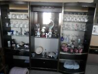 3 pieces wall unit with crystal