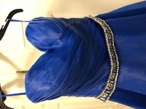 Blue prom dress, wedding or gala dress