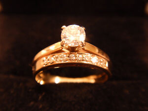 14k Diamond Engagement/Wedding/Anniv. Rings Set